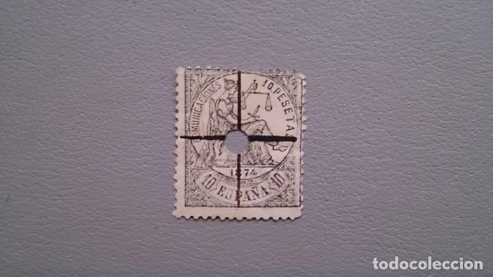 ESPAÑA - 1874 - I REPUBLICA - TELEGRAFOS - EDIFIL 152T - VALOR CATALOGO 47€. (Sellos - España - Dependencias Postales - Telégrafos)