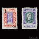 Sellos: BENEFICENCIA 1938. PEDAGOGOS HABILITADO. SERIE COMPLETA . NUEVO*EDIFIL Nº27-28. Lote 160385082