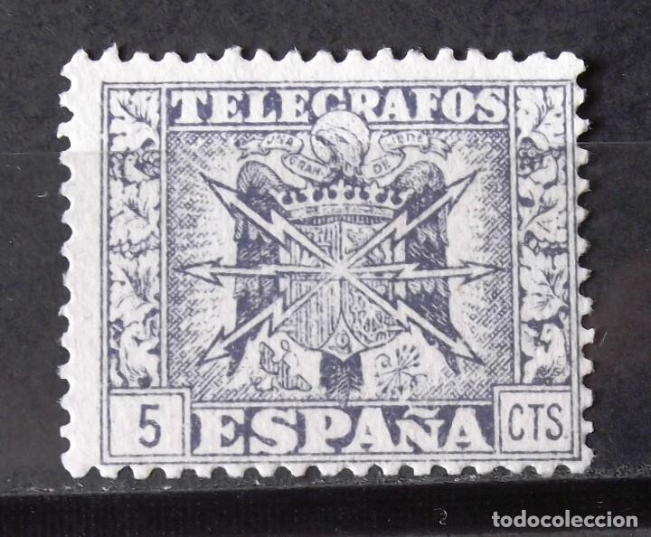TELÉGRAFOS, 85, USADO, SIN MATASELLAR. ESCUDO. (Sellos - España - Dependencias Postales - Telégrafos)