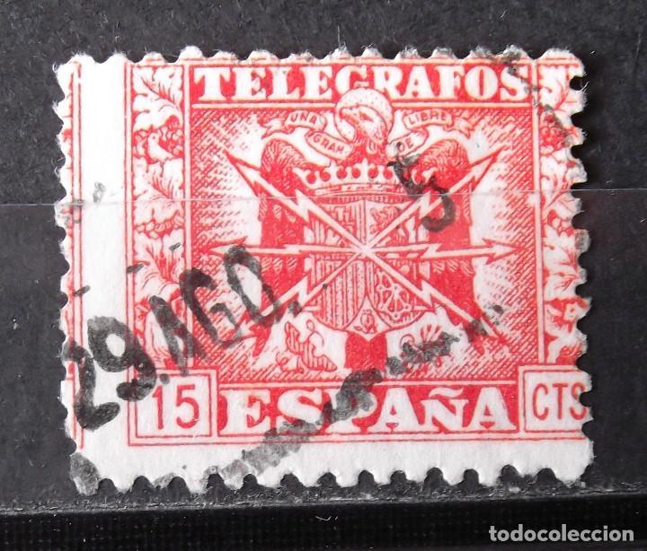 TELÉGRAFOS, 87, USADO. ESCUDO. (Sellos - España - Dependencias Postales - Telégrafos)