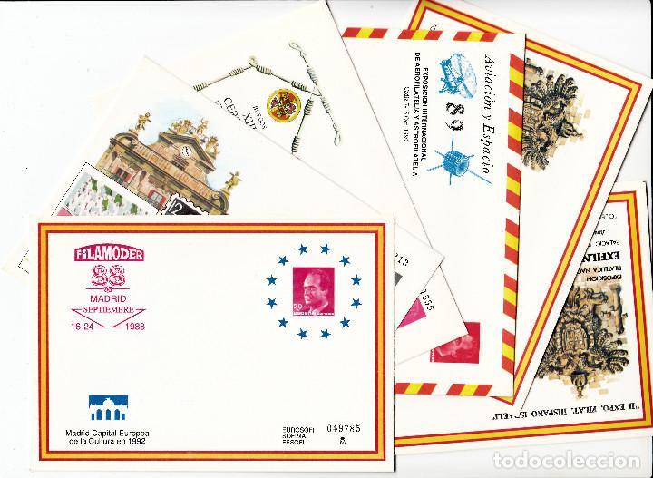 6 ENTEROS POSTALES AÑOS 1988 - 1989 (Sellos - España - Dependencias Postales - Entero Postales)