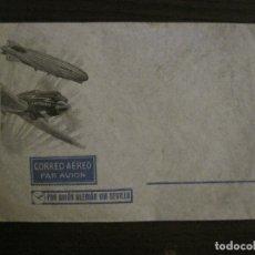 Sellos: CORREO AEREO POR AVION ALEMAN VIA SEVILLA-LUFTHANSA-ZEPPELIN DIRIGIBLE-SOBRE-VER FOTOS-(V-16.991). Lote 165108350