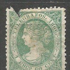 Timbres: ESPAÑA TELEGRAFOS ISABEL II 1866 EDIFIL NUM. 15 USADO --PRECIO MUY REBAJADO--. Lote 167318260