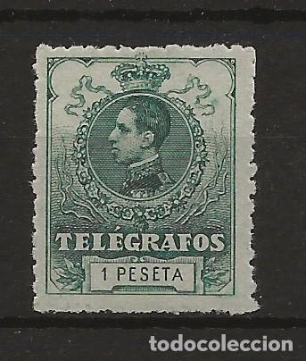 R61/ ESPAÑA, TELEGRAFOS N. 52, CATALOGO 22,00 €, MNH** (Sellos - España - Dependencias Postales - Telégrafos)