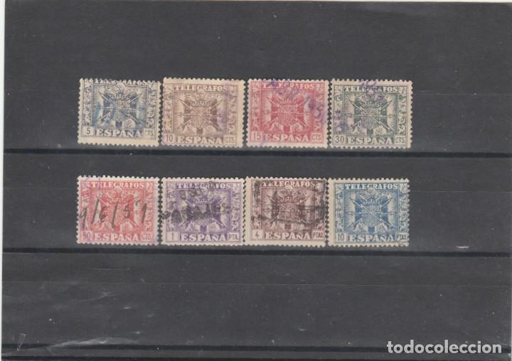 ESPAÑA 1949 - EDIFIL NRO. 85-92 TELEGRAFOS -USADOS (Sellos - España - Dependencias Postales - Telégrafos)