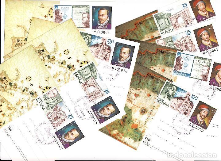 8 ENTEROS POSTALES DE ESPAMER 80 .MATASELLOS DE TARRAGONA Y FRANQUEO CON LOS SELLOS DE LA HB. NUM 25 (Sellos - España - Dependencias Postales - Entero Postales)