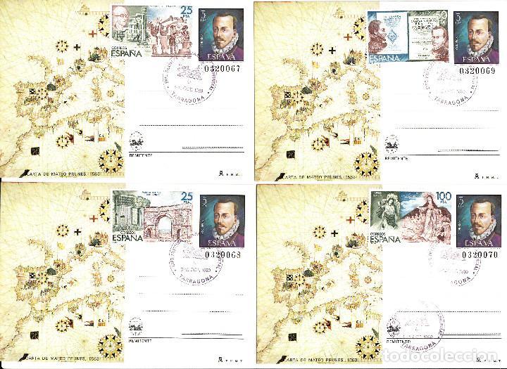 Sellos: 8 enteros postales de espamer 80 .matasellos de tarragona y franqueo con los sellos de la hb. num 25 - Foto 2 - 170288536
