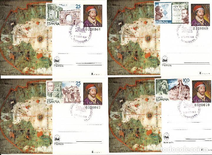 Sellos: 8 enteros postales de espamer 80 .matasellos de tarragona y franqueo con los sellos de la hb. num 25 - Foto 3 - 170288536