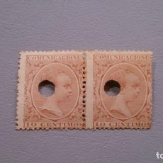 Sellos: ESPAÑA - 1889-1899 - TELEGRAFOS - ALFONSO XIII - EDIFIL 217T - PAREJA.. Lote 170883005