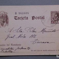 Sellos: ESPAÑA - 1938-40 - ENTERO POSTAL EDIFIL 83 - CERVANTES - CALELLA A TARRASA 18 SEPTIEMBRE 1941.. Lote 171811214