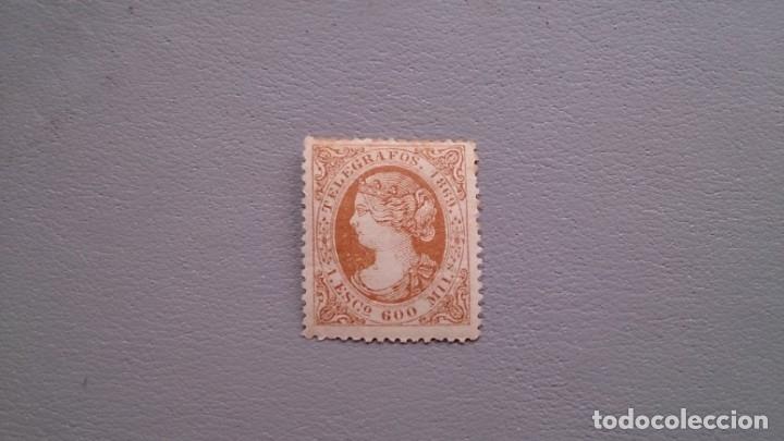 ESPAÑA - 1921 - TELEGRAFOS - EDIFIL 28 MH* - NUEVO - BONITO - VALOR CATALOGO 80€. (Sellos - España - Dependencias Postales - Telégrafos)