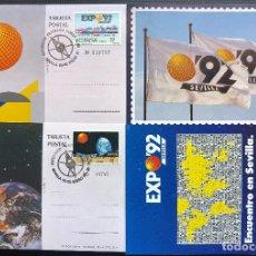 Sellos: CONJUNTO TARJETAS POSTALES EXPO 92, LAS DE LA FOTO. Lote 174062722