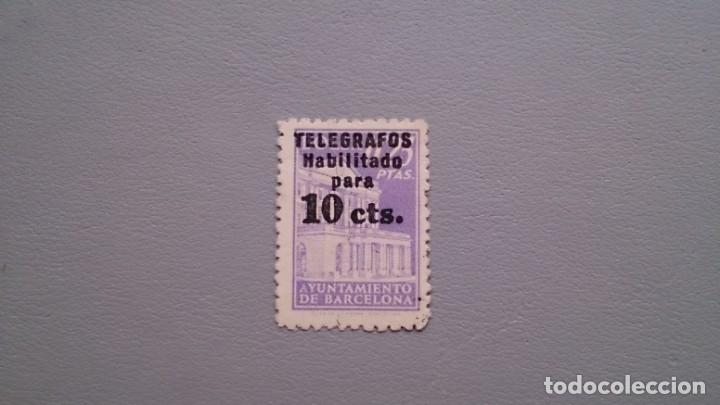 ESPAÑA - 1942-45 - BARCELONA TELEGRAFOS - EDIFIL 17 - MNG - NUEVO. (Sellos - España - Dependencias Postales - Telégrafos)