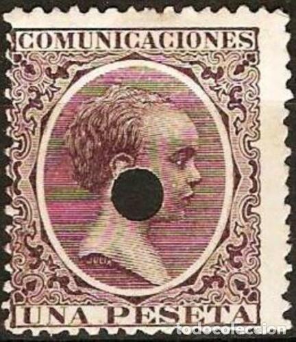 EDIFIL Nº 226T TELEGRAFOS 1P. VIOLETA NEGRO ( 8,00 € ) (Sellos - España - Dependencias Postales - Telégrafos)