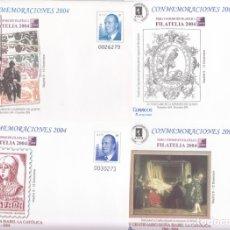 Sellos: SOBRES ENTERO POSTALES -NUMS. 96 - 4 TIPOS DISTINTOS - CONMEMORACIONES 2004 - FILATELIA 2004 MADRID. Lote 176278955