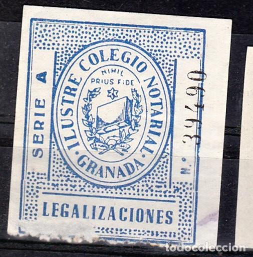 COLEGIO NOTARIAL GRANADA LEGALIZACIONES (Sellos - España - Dependencias Postales - Beneficencia)