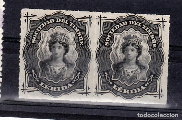 SOCIEDAD DEL TIMBRE LERIDA (Sellos - España - Dependencias Postales - Beneficencia)