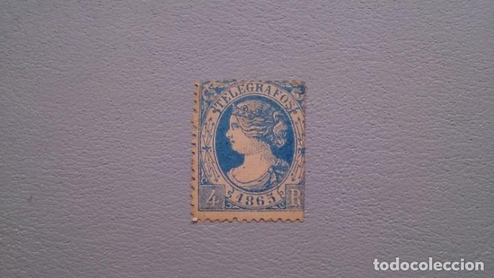 ESPAÑA - 1865 - ISABEL II - TELEGRAFOS - EDIFIL 10 - MH* - NUEVO - VALOR CATALOGO 230€. (Sellos - España - Dependencias Postales - Telégrafos)