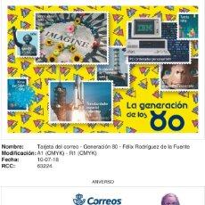Sellos: TARJETAS GENERACIÓN DE LOS 80. Lote 178881085
