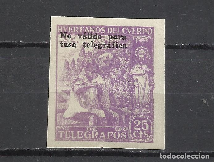 5930-SELLO NUEVO SIN DENTAR**MNH HUERFANOS TELEGRAFOS 1940 CON SOBRECARGA HABILITADO NO VALIDO PARA (Sellos - España - Dependencias Postales - Telégrafos)