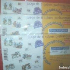 Sellos: LOTE 2,3 Y 4 , 6 SOBRES PREFRANQUEADOS, Y PAPEL DE CARTA, EL QUIJOTE, MINGOTE. Lote 179524637