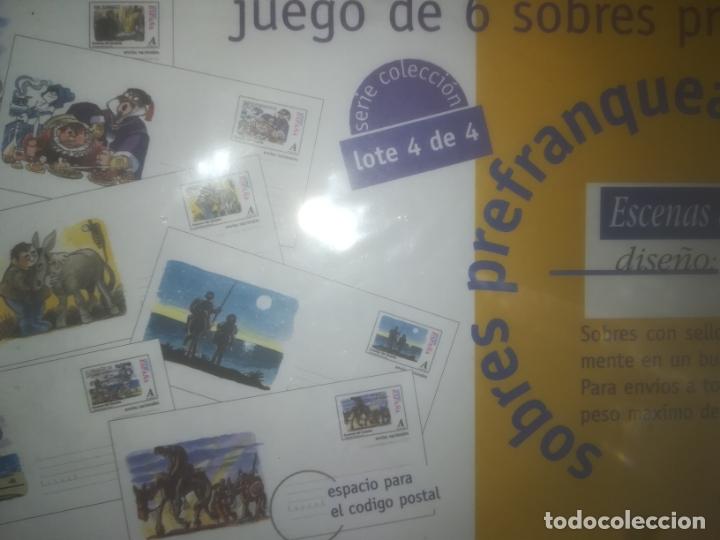 6 SOBRES SELLOS ESCENAS QUIJOTE POR MINGOTE PRECINTADOS LOTE 4 (Sellos - España - Dependencias Postales - Entero Postales)