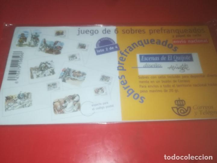 6 SOBRES SELLOS ESCENAS QUIJOTE POR MINGOTE PRECINTADOS LOTE 2 (Sellos - España - Dependencias Postales - Entero Postales)