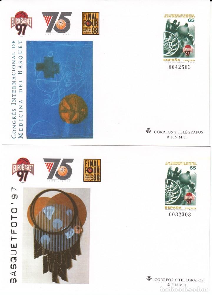 Sellos: 1997 4 ENTEROS POSTALES NUM. 42 EUROBASKET 97 - CAMP.EUROPEO DE BALONCESTO MASCULINO - Foto 2 - 180466660