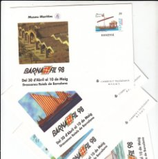 Sellos: 1998 4 ENTEROS POSTALES NUM. 45 BARFNAFIL 98 BARCELONA . Lote 180467147