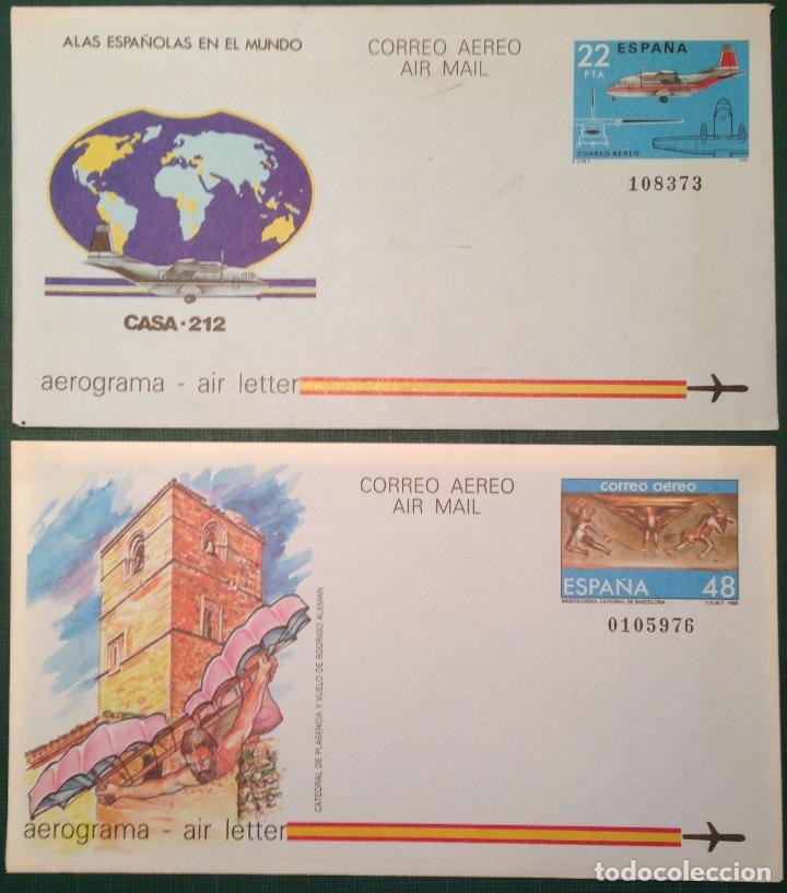 ESPAÑA SPAIN AEROGRAMA (Sellos - España - Dependencias Postales - Telégrafos)