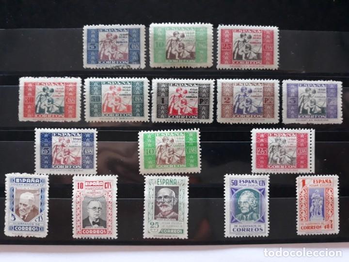 BENEFICIENCIA. HUERFANOS CORREOS. EDIFIL 1 A 16 * NUEVOS. ESPAÑA 1934 - 1937 (Sellos - España - Dependencias Postales - Beneficencia)