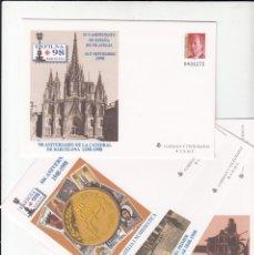 Sellos: 1998 4 SOBRES ENTERO POSTALES DE EXFILNA 98 BARCELONA NUM. 48. Lote 181024692