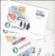 Sellos: 1998 5 SOBRES ENTERO POSTALES 10 ANIVERSARIO DE LA BASE ANTARTICA -EXP.FILATELIA POLAR NUM.49. Lote 181025145
