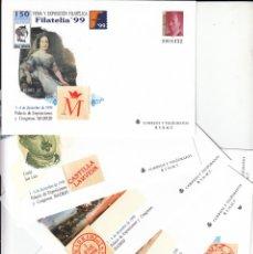Sellos: 1999 5 SOBRES ENTERO POSTALES FILATELIA 99 MADRID NUM. 57. Lote 181026457