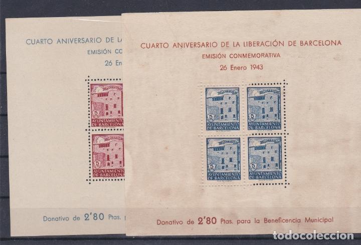BARCELONA.- CUARTO ANIVERSARIO LIBERACION BARCELONA. (Sellos - España - Dependencias Postales - Beneficencia)