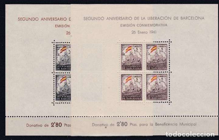 BARCELONA.- SEGUNDO ANIVERSARIO LIBERACION BARCELONA. (Sellos - España - Dependencias Postales - Beneficencia)
