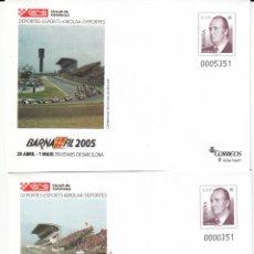 Sellos: SOBRES ENTERO POSTALES -NUMS. 98-99 BARNAFIL 2005 - CIRCUIT DE CATALUNYA. Lote 203892671