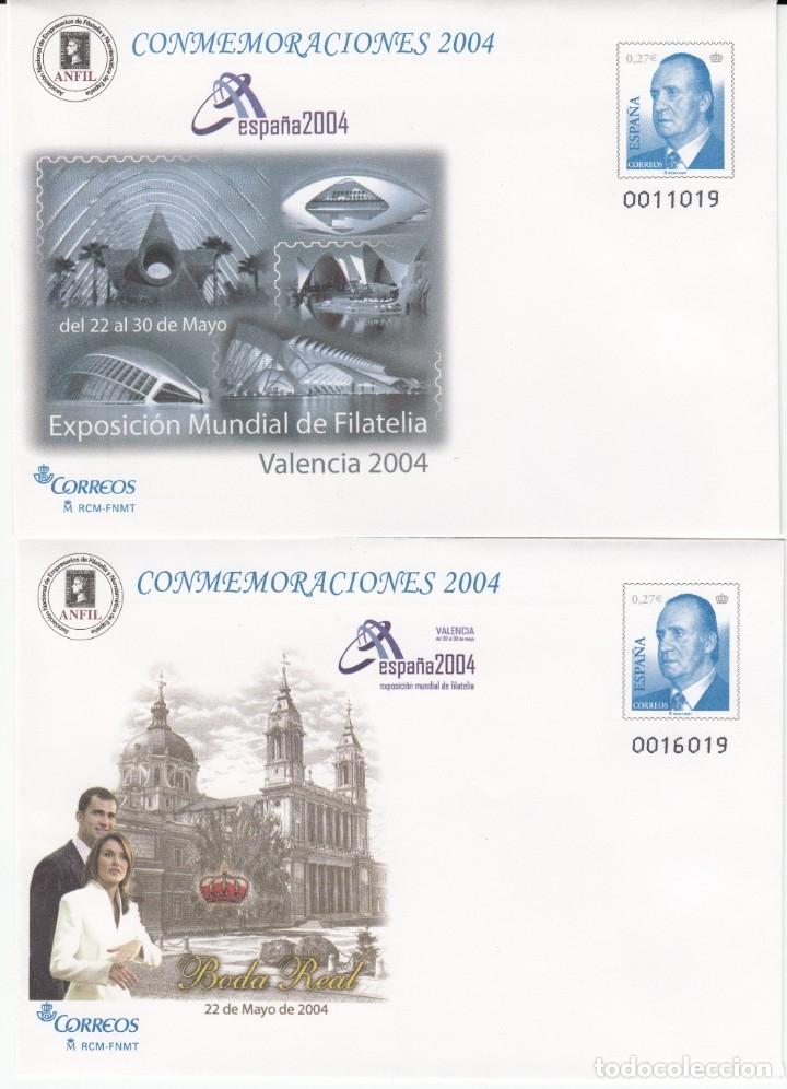 SOBRES ENTERO POSTALES -NUMS. 92 - 2TIPOS DISTINTOS- CONMEMORACIONES 2004 - EX.VALENCIA -ESPAÑA 2004 (Sellos - España - Dependencias Postales - Entero Postales)