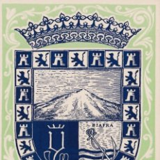 Sellos: GUINEA ESPAÑOLA ESCUDO DE SANTA ISABEL DIA DEL SELLO 1956 (EDIFIL 362) EN RARA TARJETA MAXIMA. MPM.. Lote 38692191