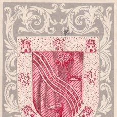 Sellos: SAHARA ESCUDO DE EL AAIUN DIA DEL SELLO 1956 (EDIFIL 130) EN BONITA Y RARA TARJETA MAXIMA. MPM.. Lote 40743699