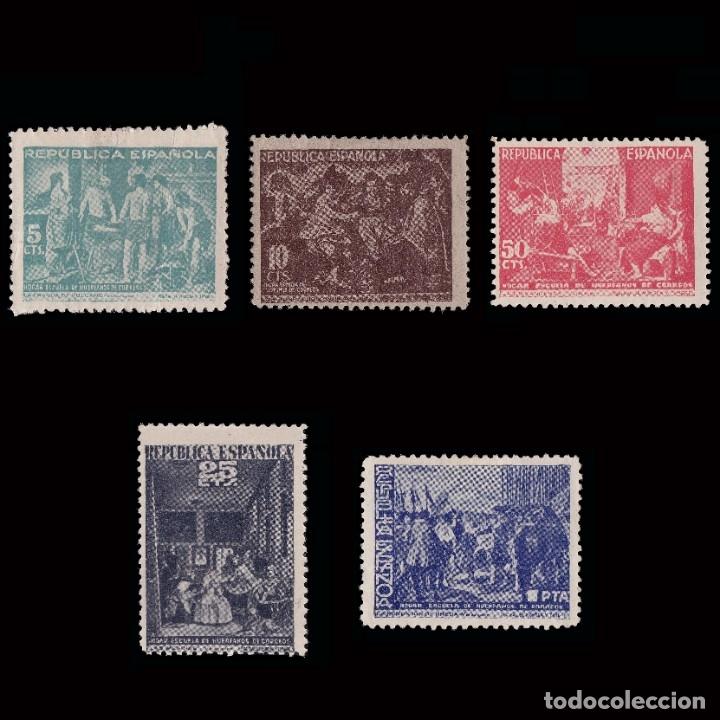 BENEFICENCIA 1938. CUADROS DE VELAZQUEZ. SERIE.NUEVO*.EDIFIL 29-33 (Sellos - España - Dependencias Postales - Beneficencia)