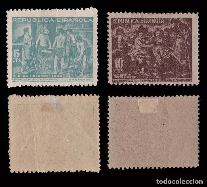 Sellos: BENEFICENCIA 1938. Cuadros de Velazquez. SERIE.Nuevo*.Edifil 29-33 - Foto 2 - 183071530