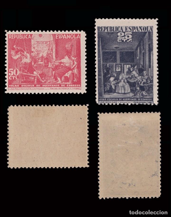 Sellos: BENEFICENCIA 1938. Cuadros de Velazquez. SERIE.Nuevo*.Edifil 29-33 - Foto 3 - 183071530