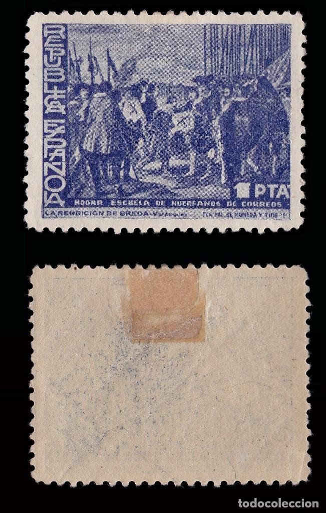 Sellos: BENEFICENCIA 1938. Cuadros de Velazquez. SERIE.Nuevo*.Edifil 29-33 - Foto 4 - 183071530