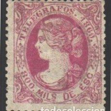 Sellos: TELÉGRAFOS, 1869 EDIFIL Nº 27 /*/ . Lote 183322942
