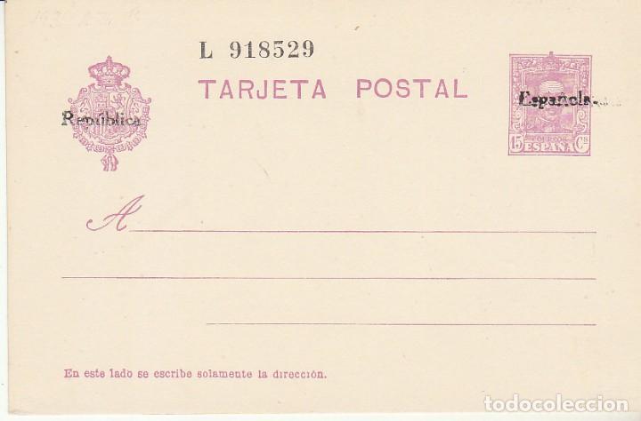 EP. XX 81. II REPÚBLICA. 1931 (Sellos - España - Dependencias Postales - Entero Postales)