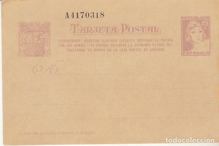 EP. XX 80. II REPÚBLICA. MATRONA. 1938 (Sellos - España - Dependencias Postales - Entero Postales)