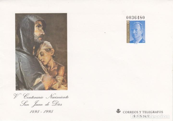 SOBRE ENTERO POSTAL - 1995 -V CENT. NAC. SAN JUAN DE DIOS NUM. 31 (Sellos - España - Dependencias Postales - Entero Postales)