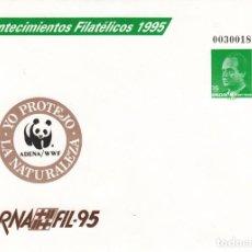 Sellos: SOBRE ENTERO POSTAL - 1995 - ACONTECIMIENTOS FILATELICOS - ADENA WWF -BARNAFIL 95 . NUM.27. Lote 183485990