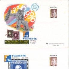 Sellos: 2 SOBRES ENTERO POSTALES - 1996 - FILATELIA 96 - GUERRA CIVIL - GOYA NUMS. 36 - 37 . Lote 183486263